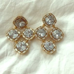 Kate Spade Diamond and Gold Statement Earrings